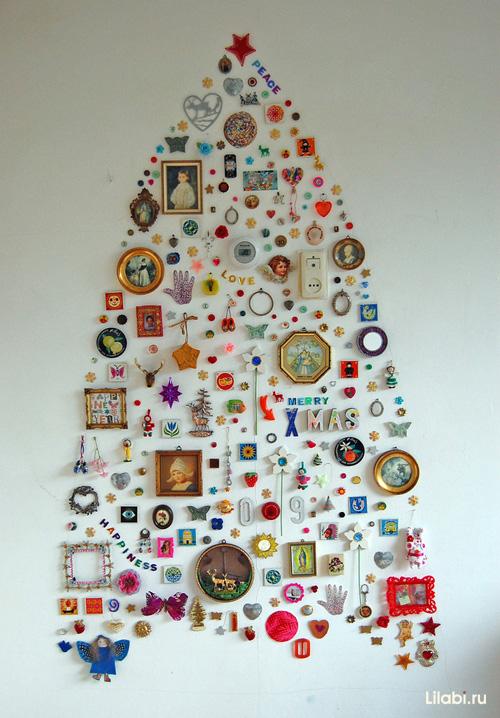 Новогодние украшения на стену